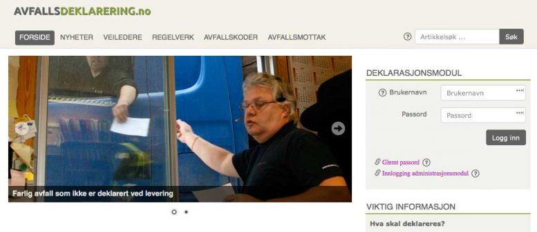 www.avfallsdeklarering.no